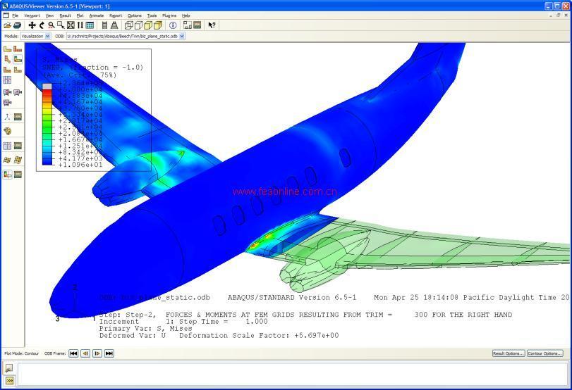 有限元在线-飞机机身的模态分析