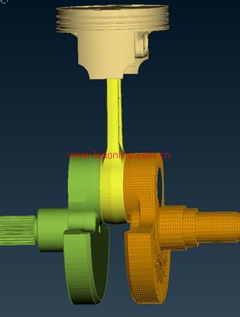 图:曲轴连杆机构