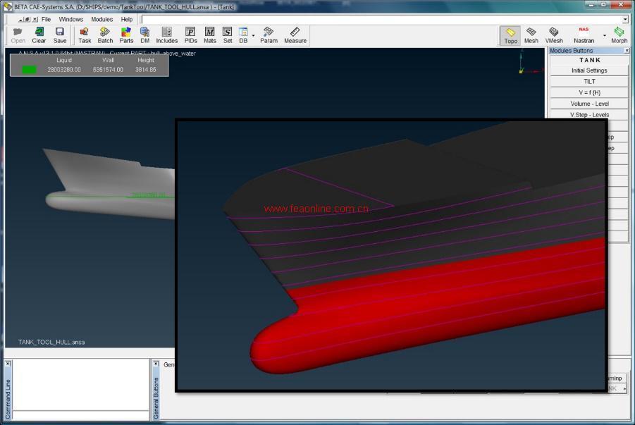不同载荷下船舶吃水线计算-用于海上或沿岸结构设计的高性能前后处图片